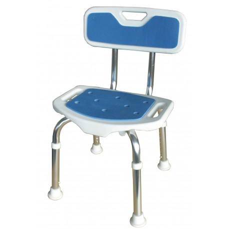 Chaise de douche Blue Seat avec dossier