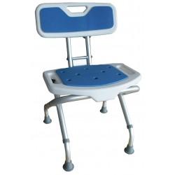 Siège de douche pliant Blue Seat avec dossier