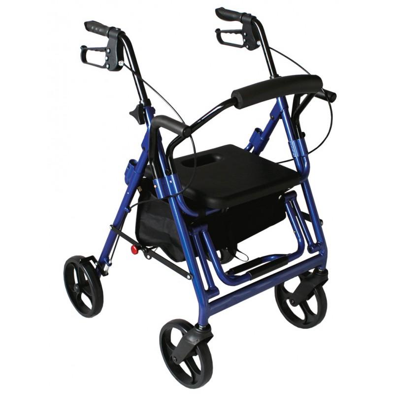 Rollator fauteuil de transfert 2 en 1 l ger et maniable - Transfert malade lit fauteuil ...