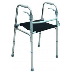 Déambulateur fixe pliant avec assise souple