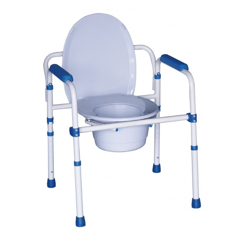 Chaise perc e pliante cadre de wc r glable for Chaise percee
