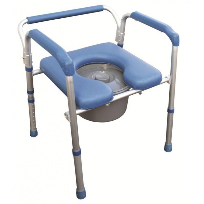chaise hygi nique 4 en 1 en aluminium anti corrosion. Black Bedroom Furniture Sets. Home Design Ideas