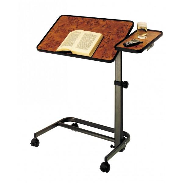 Table de lit mobile avec tablette latérale
